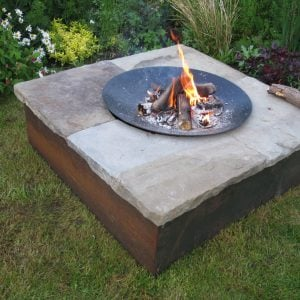 The Cheviot wood and stone fire pit