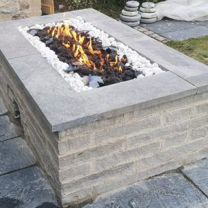 The Henley Gas Fired Stone Fire Pit